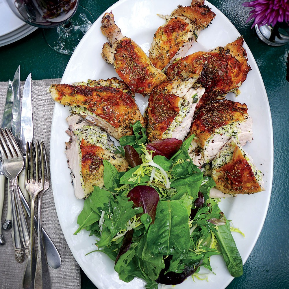 Zucchini-and-Herb-Stuffed Chicken Recipe - Richard Olney | Food & Wine
