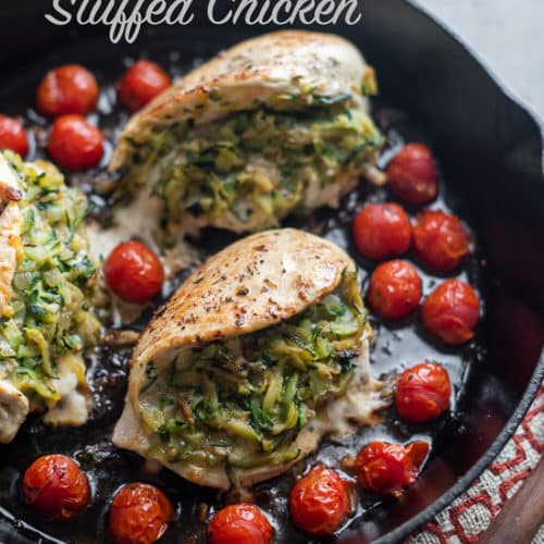 Stuffed Chicken Breasts with Grated Zucchii | White On Rice Couple