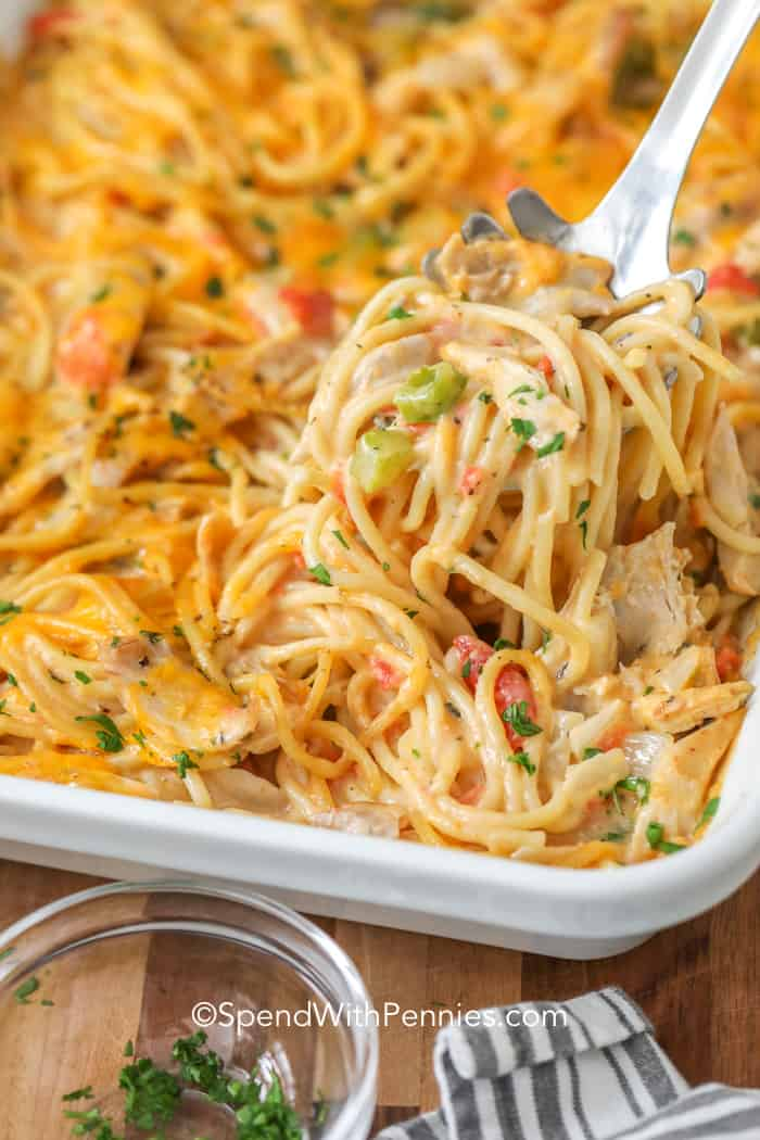 Homemade Chicken Spaghetti - Spend With Pennies