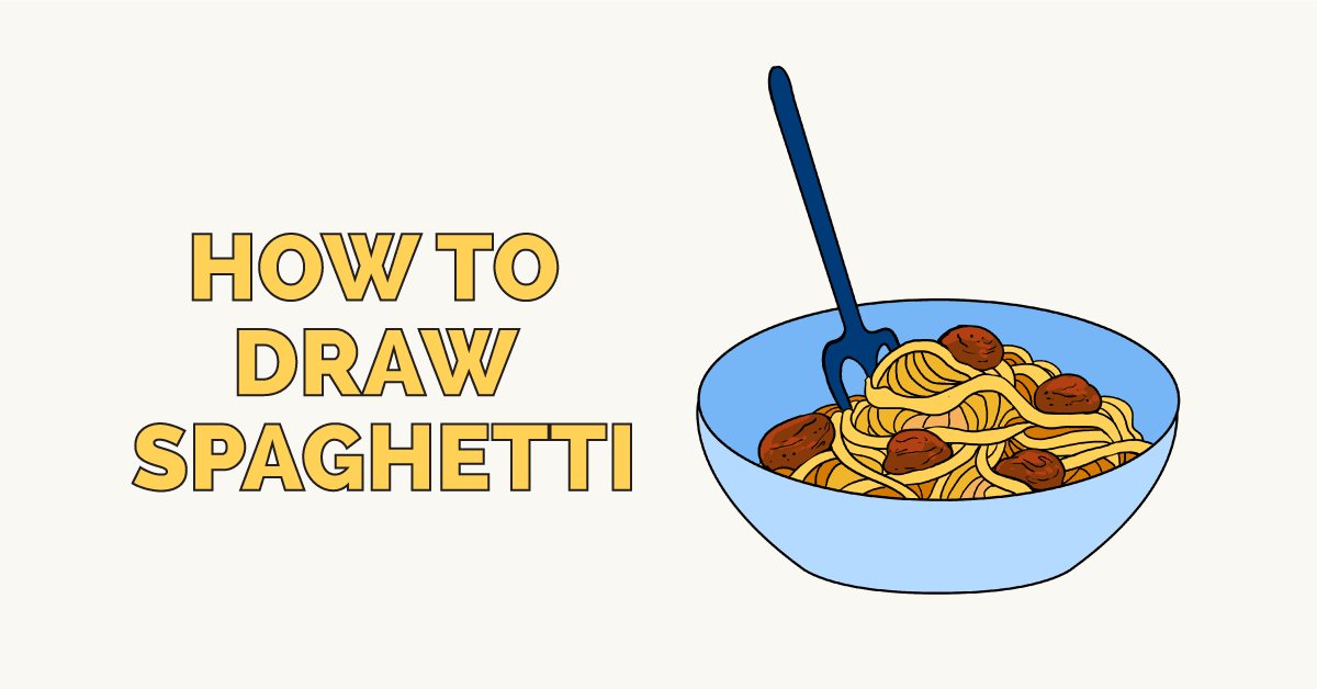 How to Draw Spaghetti - Really Easy Drawing Tutorial