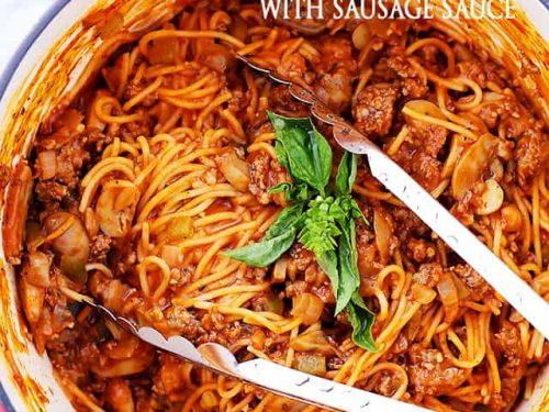 One Pot Spaghetti with Sausage Sauce Recipe - Diethood