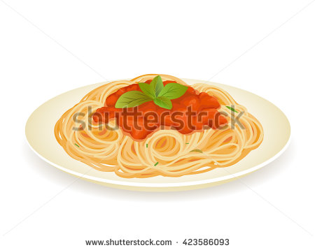 Vector Images, Illustrations and Cliparts: Spaghetti bolognese ...