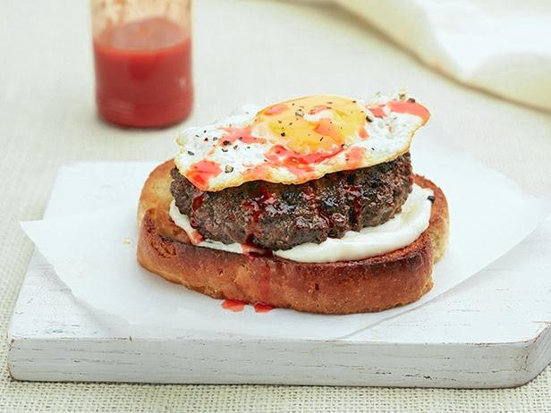 Sunny Side Up Burger Recipe | Sunny Anderson | Food Network