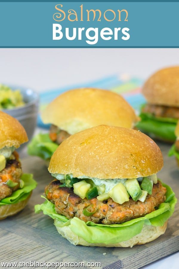 Salmon Burgers Recipe - Easy to prepare salmon burgers made with ...