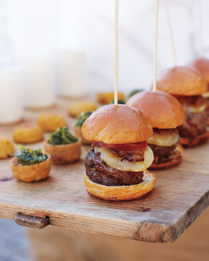 Mini Burgers with Caramelized Onions Recipe | Martha Stewart