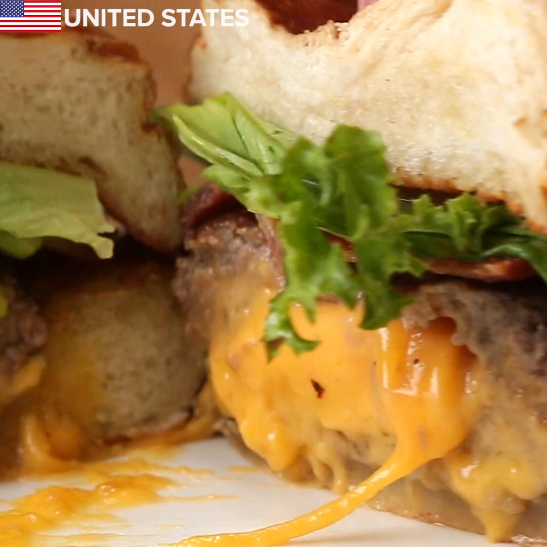 """American Burger """"Juicy Lucy"""" Recipe by Tasty"""