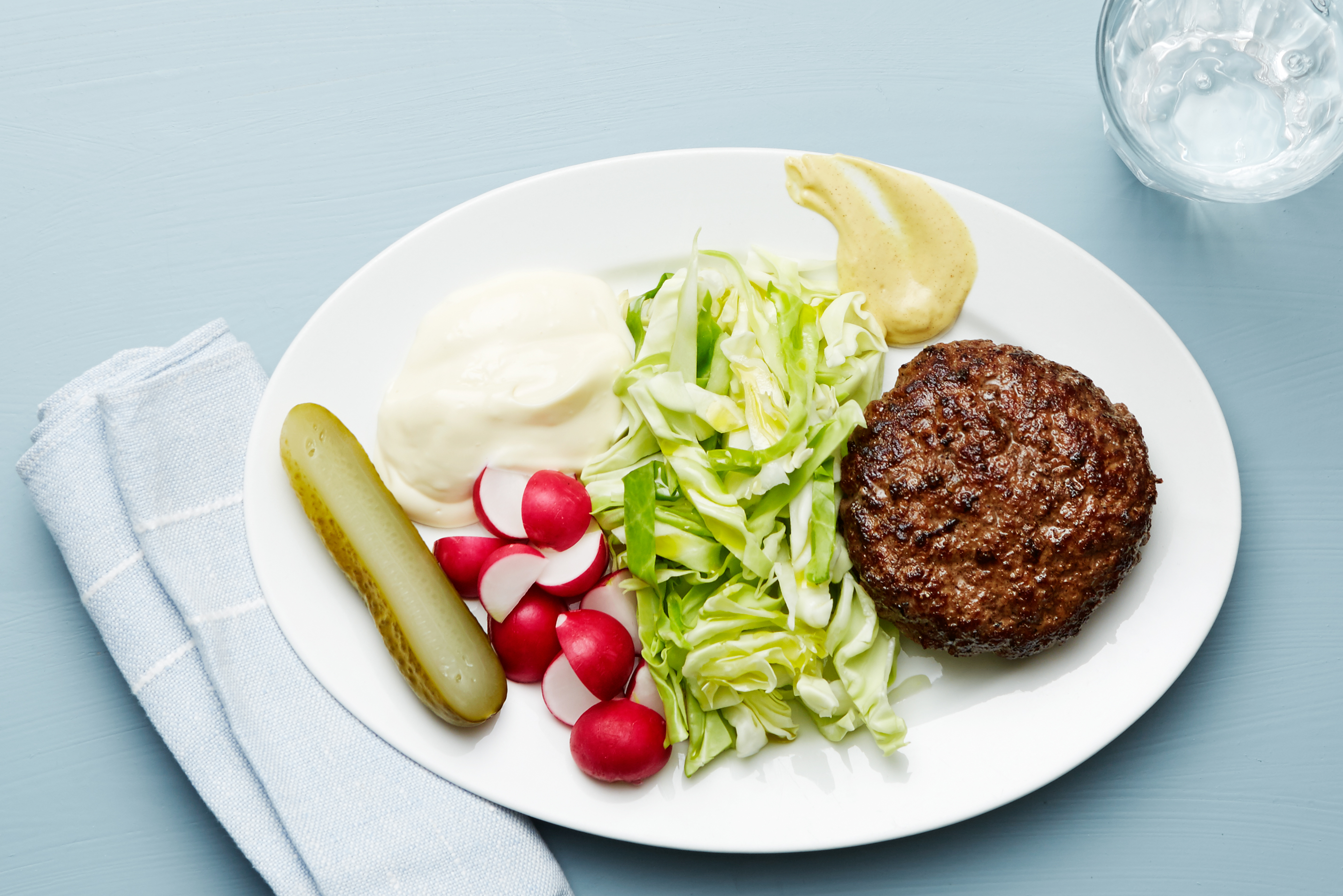 Keto Burger and Cabbage Plate — Recipe — Diet Doctor
