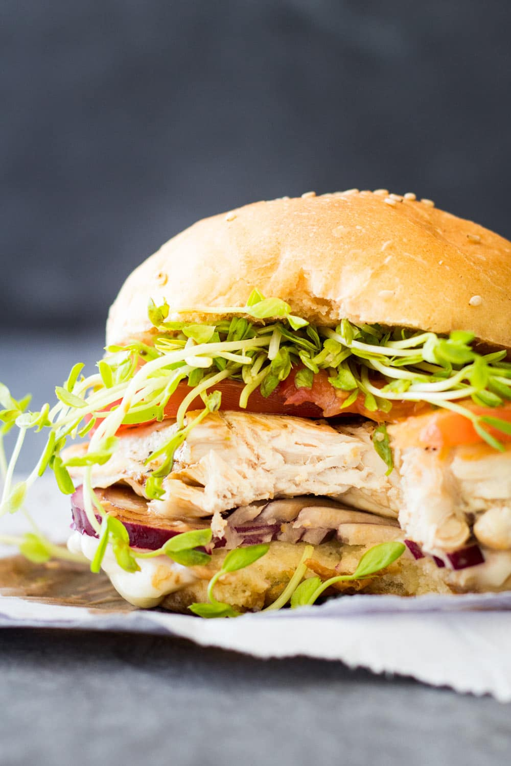 Easy Grilled Chicken Burger - Green Healthy Cooking