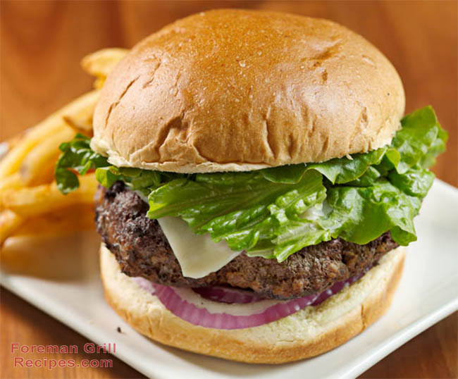 Easy & Delicious George Foreman Grill Beef Burger Recipe