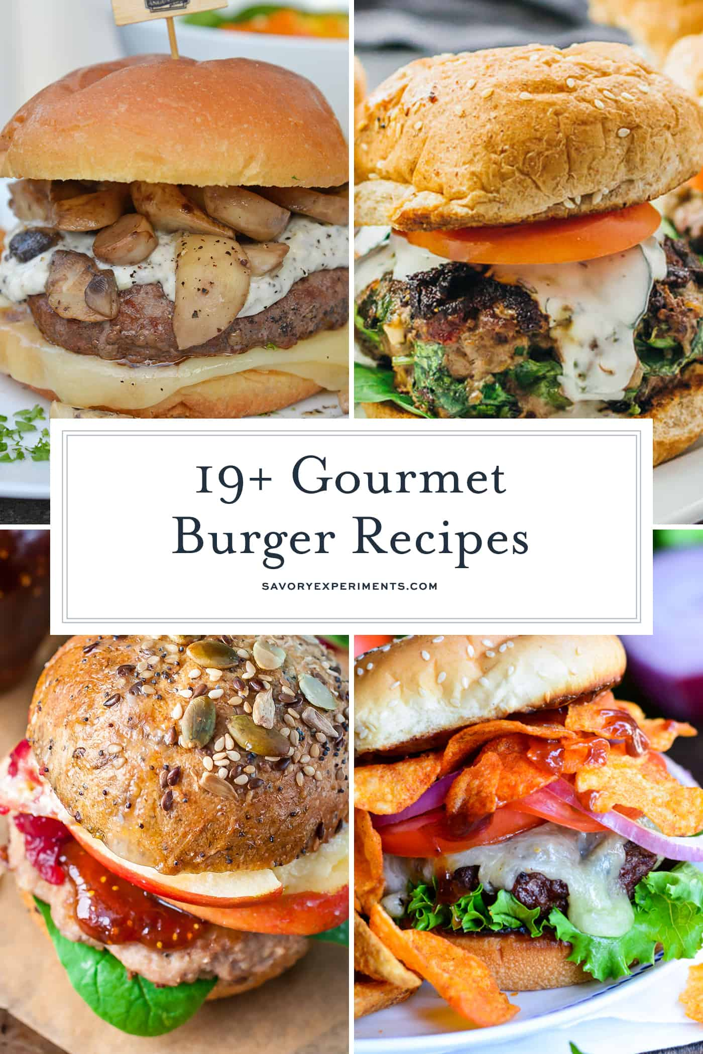 The 19 Best Gourmet Burger Recipes - Gourmet Hamburgers