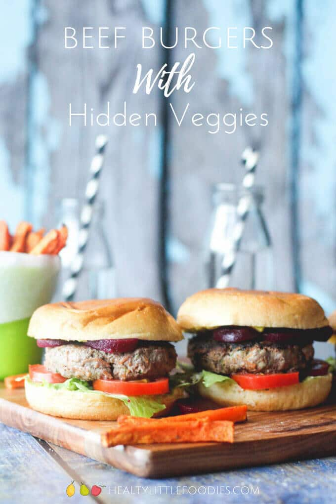 Hidden Veggies Beef Burgers - Making kid food healthier