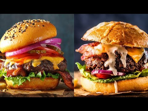 12 Delicious Burger Recipes - How To Make Burger at Home - YouTube