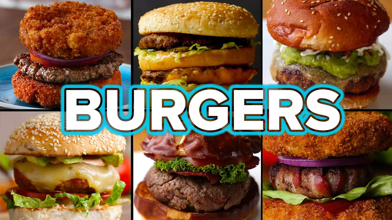 6 Mouth-Watering Burger Recipes - YouTube