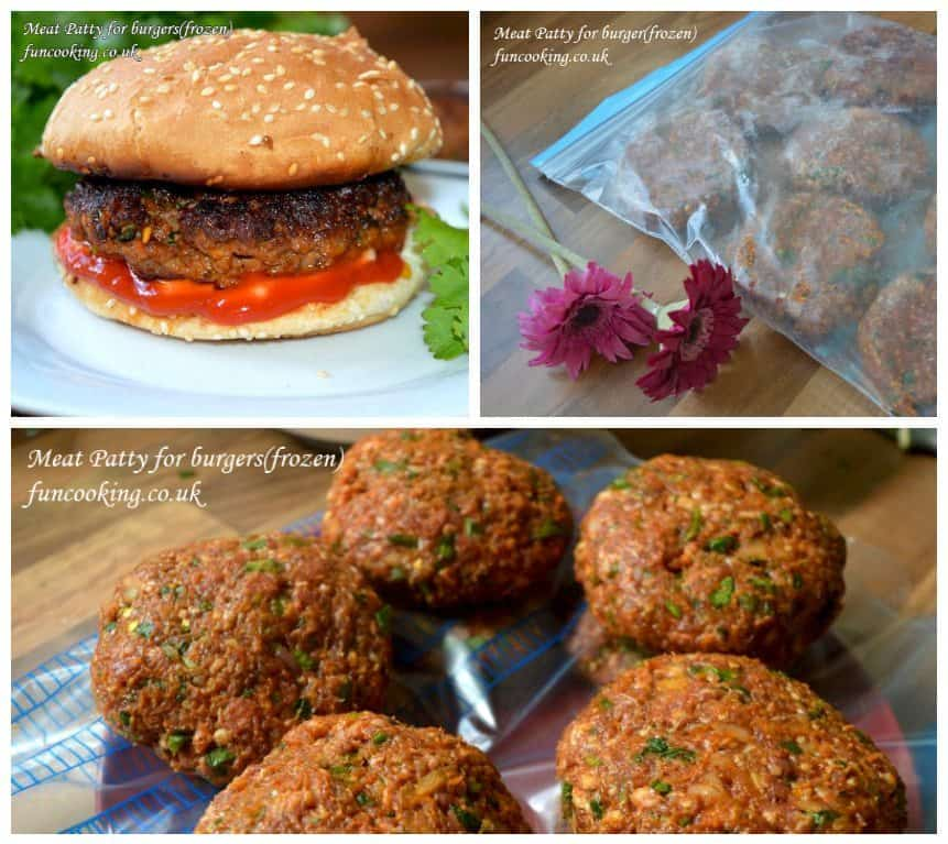 Mutton/beef Meat Patty for Burger frozen