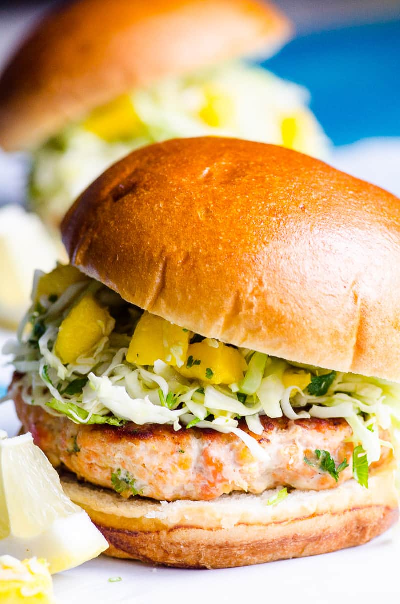 Healthy Salmon Burgers (Video) - iFOODreal - Healthy Family Recipes