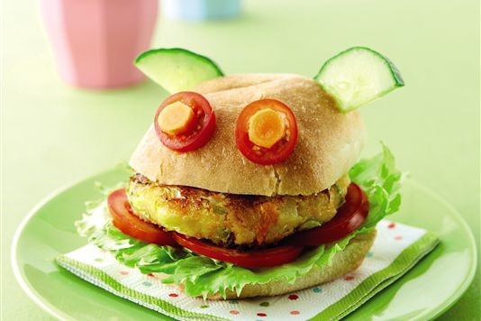 Veggie burgers for kids recipe
